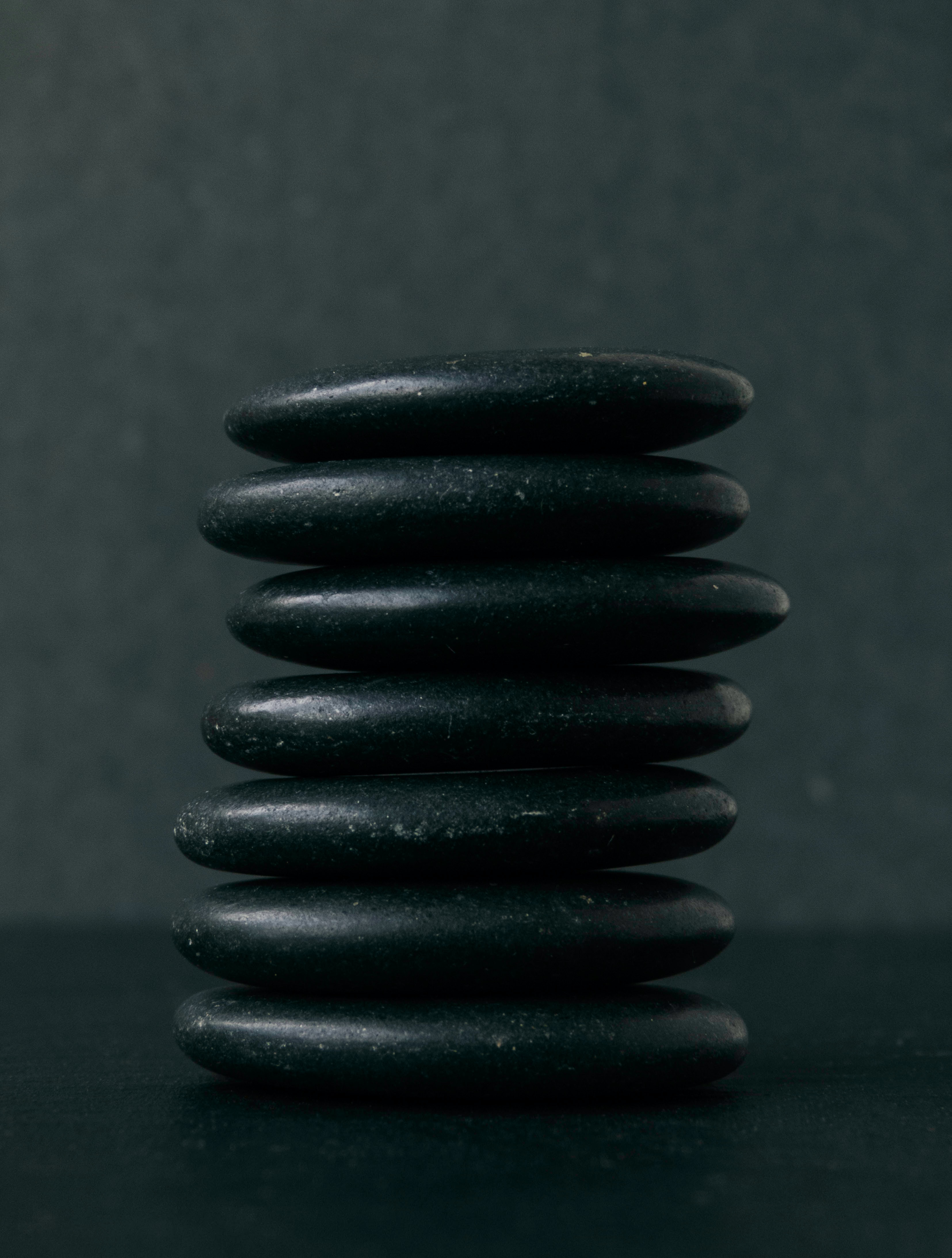 Hot stones in a stack